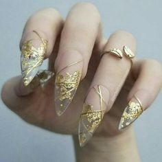 Claw nails, my nails, how to do nails, hair and nails, acrylic nail designs Gold Nail Art, Stiletto Nail Art, Cute Acrylic Nails, Gold Nails, Acrylic Nail Designs, Cute Nails, Pretty Nails, Nail Art Designs, Hair And Nails