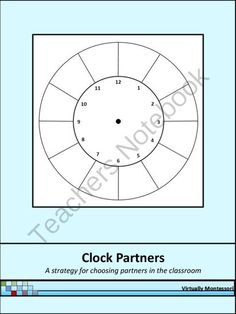 Clock Partners from Virtually Montessori on TeachersNotebook.com -  (3 pages)  - A strategy to use in the classroom for children to choose 12 sets of partners that can be used throughout the school year.