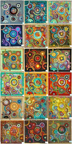 The colourful quilt mosaic by cyberphenicia, via Flickr