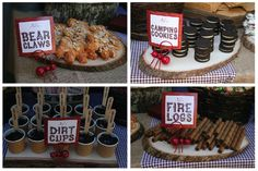 Bear Claws - Camp Cookies - Dirt Cups - Fire Logs