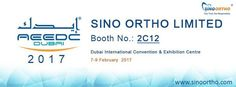 The Dubai International Convention & Exhibition Centre (DICEC) is the region's most modern, purpose-built exhibition centre. Our booth No: 2C12 and contact details: info@sinoortho.com or call +86-137-5823-5369