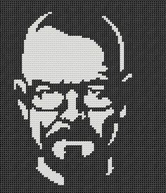 Who doesnt love Breaking Bad? Exactly. This listing is the for Walter White PATTERN only, not a completed cross stitch. Stitch Count: 87H x