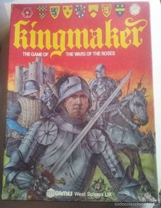 kINGMAKER - The Game Of The Wars Of The Roses - Juego de Mesa 1974 Vintage