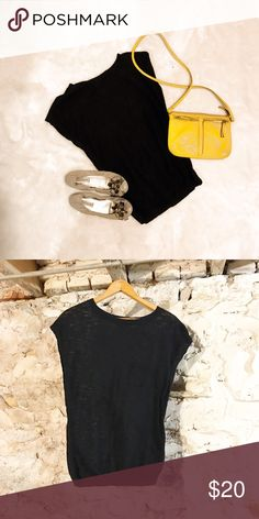 Black sleeveless sweater Lightweight, sleeveless black sweater. Slightly, slightly sheer, so you might want a cami under it for work. Cute front pocket. Banana Republic Tops