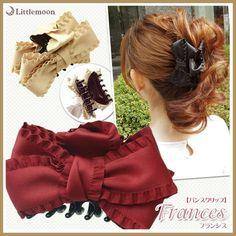 【バンスクリップ】フランシス Flower Hair Clips, Flowers In Hair, Mono Formal, Hair Claw, Bow Tutorial, Ribbon Hair Bows, Diy Bow, Afro, Cute Bows