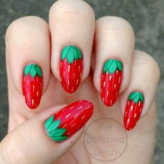 Strawberry nails #31DC2015