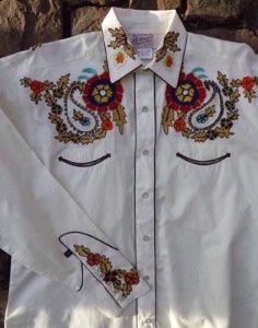 Rockmount Ranch Wear Ladies' Vintage Western Shirt: Paisley Western Ivory S-XL