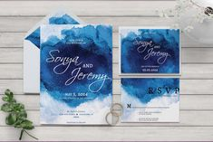 Watercolor Wedding Collection Printable Galaxy Wedding | Etsy    #galaxytheme #galaxypapergoodies Galaxy Wedding, Galaxy Theme, Wedding Lanterns, Envelope Liners, Watercolor Wedding, Save The Date Cards, Printing Services, Rsvp, Wedding Invitations