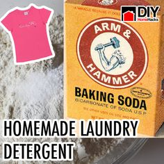 How To Make Your Own Laundry Detergent. How to make washing soda from baking soda too.