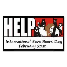 International Save Bears Day cards