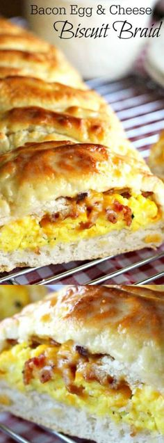 This Bacon Egg and Cheese Biscuit Braid from Melissa's Southern Style Kitchen is our new Saturday morning breakfast favorite!