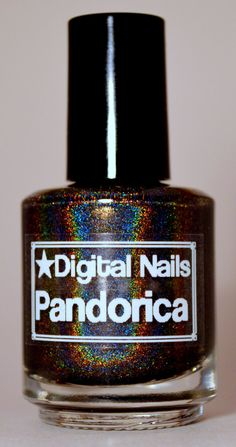 Pandorica : Rory Williams and  Doctor Who inspired black linear holographic nail polish by Digital Nails