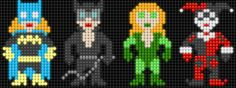 Lair of the Dork Horde: Lite Brite Brutes Hama Beads, Fuse Beads, Lite Brite, Cross Stitching, Cross Stitch Embroidery, Cross Stitch Patterns, Pearler Bead Patterns, Perler Patterns, Aquaman