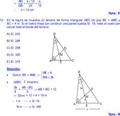 THALES Y PROPORCIONALIDAD EJERCICIOS RESUELTOS DE GEOMETRIA MATEMÁTICAS DE SECUNDARIA Y PREUNIVERSITARIA pdf Line Chart, Geometry, Triangle, Math, Trigonometry, Plane Geometry, Study Tips, Mathematics, Math Resources