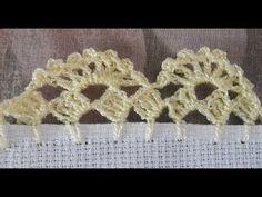 Recently shared orillas de crochet de una vuelta ideas & orillas de crochet de una vuelta pictures Crochet Edging Tutorial, Crochet Border Patterns, Crochet Lace Edging, Filet Crochet, Crochet Designs, Crochet Leaves, Crochet Flowers, Diy Crafts Crochet, Crochet Elephant