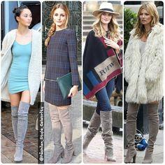 #Grey #ThighHighBoots#WhoWoreBetter?#CaraSantana#OliviaPalermo#RosieHuntingtonWhiteley#KateMoss#fashion #style #celebrity #celebritylook #fashionicon #tallboots #greyboots #beautiful #pretty#stylish #lookbook #look #ootd #outfit #heels #shoes #nofilter #girl #makeup... - Celebrity Fashion