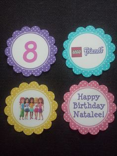 Lego Friends Cupcake Toppers #legofriends #birthday #party #cake #cupcake partyatthebeech.blogspot.com