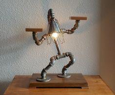 Industrial Table Desk Lamp by Splinterwerx on Etsy