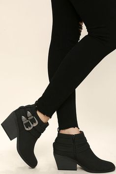 Cutest Double Buckle bootie! Also available on Lulus