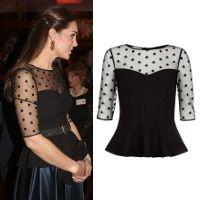 f8e305e549be0 Hobbs Invitation Emilia Black Dot Top - Kate Middleton Tops