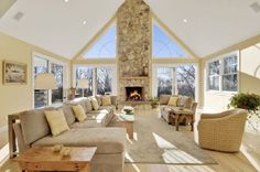 The fire place and Windows...