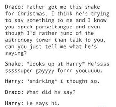 why<< I dont ship Drarry but in the begining that is how i feel how malfoy was! << this just in; even non-Drarry shippers kno that Draco was super gay for Potter