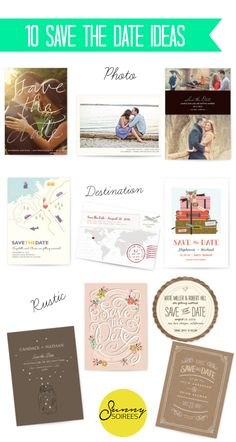 Save the date ideas from Minted! #savethedate #wedding