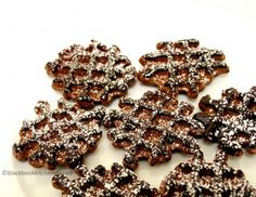 chocolate waffle cookies (made in a waffle Iron)