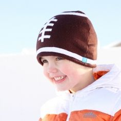 Make your own little Fleece Football Hat in under an hour.
