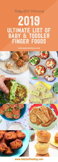 Ultimate List of Baby and Toddler Finger Foods. Over 25 healthy finger food recipes for baby led weaning toddlers and kids! Refined sugar free treats low salt meals quick snacks and freezer friendly make ahead finger foods! Toddler Finger Foods, Healthy Finger Foods, Healthy Snacks To Buy, Healthy Toddler Snacks, Quick Snacks, Healthy Meal Prep, Finger Foods For Babies, Healthy Recipes For Toddlers, Healthy Meals For Toddlers