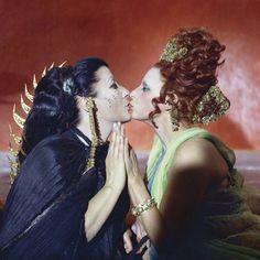 "Danika La Loggia and Magali Noel in ""Satyricon"" di Federico Fellini Fellini Films, Carol Of The Bells, Social Challenges, Egyptian Goddess, Film School, Club Kids, Film Stills, Film Director, Films"