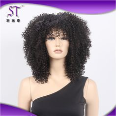 STfantasy 19 Fancy Dress Costume Adults Black Highlight Brown Disco Short  Curly Big Afro Wig For Black Women Hand Made Curl     Be sure to check out  this ... 79608d444dd2