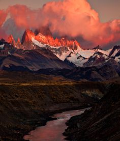 Sunrise in Patagonia, Argentina