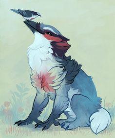 Bleeding Heart Gryphon by fancypigeon.deviantart.com on @deviantART