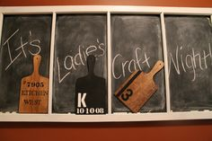 Hammers and High Heels: Craft Night Series #2: Personalized Decorative Cutting Boards