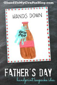 Hands Down Best Pop - Father's Day Handprint Keepsake Idea