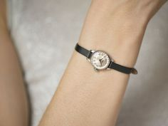 Small watch women's watch Seagull black white watch by SovietEra
