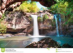 Amazing Beautiful Waterfalls In Deep Forest At Haew Suwat Waterfall In Khao Yai National Park Stock Photo - Image of landscape, green: 66864174 Khao Yai National Park, National Parks, Landscaping Images, Deep Forest, Beautiful Waterfalls, Stock Photos, Landscape, Amazing, Green