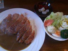 カツカレー&おまかせサラダ