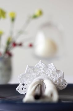 Check out Wedding Napkin Rings. Set of 4 Crochet Napkin Rings. Choose from 4 colors. Add charm to a table decor. Style 2. on handcraftedbyevakuno