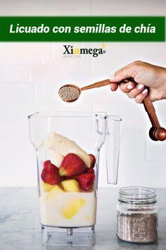 #VidaSana: ¡Recupera tus energías con un delicioso licuado acompañado de tus frutas favoritas y semillas de chía Xiomega!