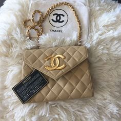 Authentic Nude Vintage Chanel Bag Have authentication card and is in excellent 'carefully loved' vintage condition CHANEL Bags Shoulder Bags