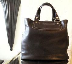 Celine Boogie black leather large bag. www.juneresale.com