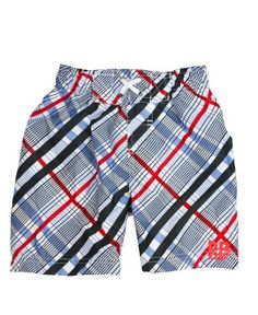 RuggedButts Radcliffe Red Plaid Swim Trunks