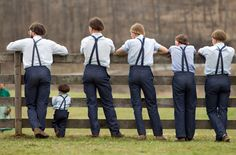amish | View full size Amish boys watch a game of baseball outside the school ...