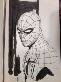 Adi Granov - Spider-man - Leeds Thought Bubble in Craig Wills's Convention Sketches Comic Art Gallery Room Hq Marvel, Marvel Dc Comics, Adi Granov, Spiderman Drawing, Black And White Comics, Spectacular Spider Man, Thought Bubbles, Cool Sketches, Spider Verse