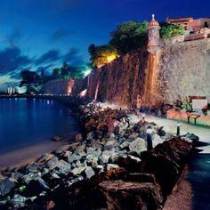 San Juan at night