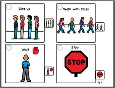 Sequence Cards for Visual Supports - Lining up with Class