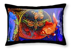 Climate Change Throw Pillow featuring the digital art Solar Ocean by Joseph Mosley