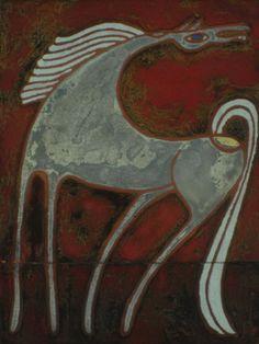 .:. Βαλσαμάκης Πάνος – Panos Valsamakis [1900-1986] Painter Artist, Artist Art, Modern Art, Contemporary Art, Greek Art, Clay Animals, Fantastic Art, Horse Art, Conceptual Art